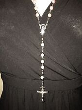 Pink rosary beads NEW, Blessed in Fatima,