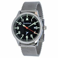 Stainless Steel Case Matte Unisex Round Wristwatches