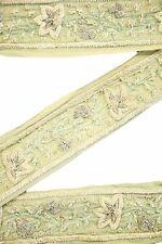 Vintage Indian Sari Border Used Trim 1 Yd Women Antique Sari Trim Ribbon ST2048