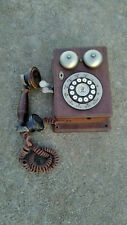 VTG Wall Phone AT&T Western Electric Antique Style Wood Case Push Button 1PTy