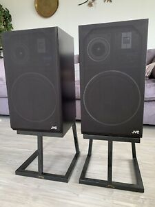 JVC Zero-2 Stereo Speakers (pair) With Speaker Stands.