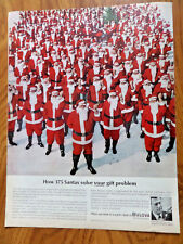 1963 Bulova Watch Ad  How 375 Santas Solve Your Gift Problem