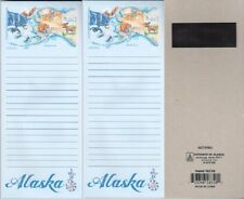 Set of 2 Alaska Map and Wildlife Watercolor Note Pads 4 in. X 8.5 in.