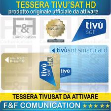 TESSERA CARD SMART CARD TIVU' SAT HD SCHEDA TIVUSAT HD NUOVA DA ATTIVARE