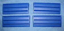 Set of 4 Blue Plastic Rummikub  Racks Tile Holders Trays Replacement