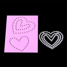 Lovely Heart Framed Metal Cutting Dies Stencil Scrapbook Paper Cards CrafQ9Q