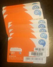 Lot Of 10 At&T 4G Lte Prepaid Go Phone Factory Standard/Mini Sim Card Sku 6006A
