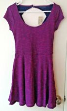NWT!! AE American Eagle Purple & Blue Stripe Short Sleeve Knit Dress - SMALL