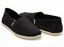 Toms Mens Classic Rope Sole Shoes/ Espadrilles/ Black Numbuck Leather/ Size UK10