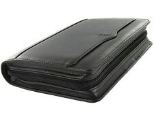 Filofax Personal Guildford Zipped Leather Organiser  Black with 2018 Diary