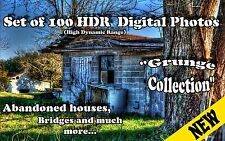 100 DIGITAL PHOTOS HDR PHOTOGRAPHY GRUNGE ABANDONED HOUSES BRIDGES BUILDINGS
