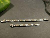 Tolles 925 Silber Armband Defekt Vintage Retro Muster 70er Gerissen Unisex