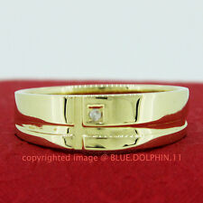 Genuine Diamond Solid 9ct Yellow Gold Engagement Wedding Mens Bling Signet Rings