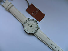 Very Smart Silver and White Faced Quartz Watch White Strap