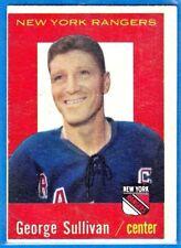 1959-60 TOPPS VINTAGE HOCKEY CARD# 59 GEORGE SULLIVAN (RANGERS) EX+++