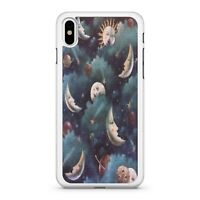 Crescent Moons Celestial Sun Milky Way Starry Sky Pattern Faces Phone Case Cover