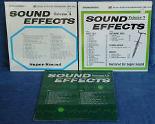 SOUND EFFECTS VOL. 4, 7, 10 -AUDIO FIDELITY - (3) LP LOT (2 SEALED, 1 IN SHRINK)