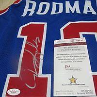 Dennis Rodman Signed Custom Pistons Jersey (JSA Witnessed)