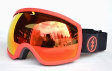 2018 NWT ELECTRIC EG2 SNOWBOARD GOGGLES $160 Black-Red / Brose-Red Chrome