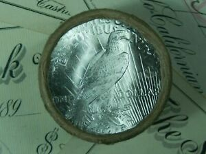 $10 BU PEACE SILVER DOLLAR ROLL UNCIRCULATED DOLLARS 10X COIN LOT M02