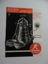 1950s OLYMPIA EXPRESS CREMINA BUBY Espresso Machine Catalog Sheet Vintage ORIG.
