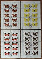 10 x Bund 2500 - 2503 KB gestempelt ETSST Kleinbogen Satz Bogen Schmetterlinge