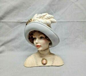 Cameo Girls Lady Head Vase ~ Judith 1910 ~ TransAtlantic Lady - EXCELLENT