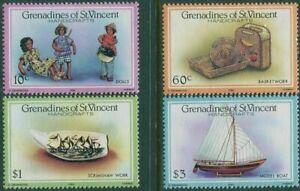 Grenadines of St Vincent 1986 Handicrafts Set of 4  MNH