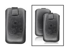 Housse Etui Cuir Noir avec Motifs Carrés ~ Samsung i9300 Galaxy S3