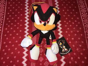 "Official 8"" GE SONIC X SHADOW Sonic Plush Toy 2006 SEGA Tagged"