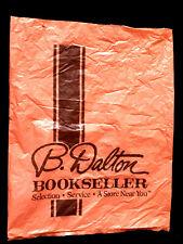 B. DALTON BOOK STORE Bookseller PLASTIC SHOPPING BAG Vintage BARNES AND NOBEL