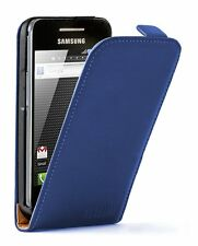 Ultra Slim BLUE Leather case for Phone Samsung Galaxy Ace GT-S5830i / S5839i