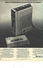 PUBLICITE 1973   SONY   magnétophone de poche  swing-balance