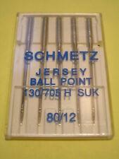 Schmetz Agujas de punto Jersey Bola 80/12 Máquina de Coser se ajusta hermano/Janome/Elna