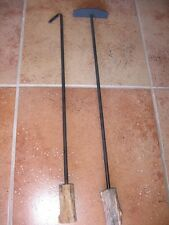 Fire Place Tools Pit Clean Out & Wood Poker Tools BBQ Grill Smoker Man Christmas