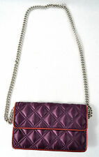 Marc By Marc Jacobs Quilted Satin Evening Bag Clutch Purse Handbag DK Purple New
