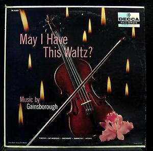 Gainsborough - May I Have This Waltz LP VG+ DL 8585 Vinyl 1958 Decca USA Mono