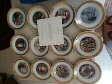 Royal Copenhagen Hans Christian Andersen Plates 1975 Complete Set of 12