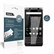 2x Blackberry KeyOne Schutzfolie - Folie Glasfolie 9H  dipos Glass Displayfolie