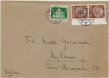 GERMANIA BUSTA COVER BERLINO 1936 TO MILANO ITALY - DEUTSCHES REICH 3 STAMPS