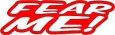 El miedo me Sticker Etiqueta de vinilo gráfico Etiqueta Roja