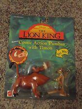 Mattel Disney 1994 Lion King Action Figure COMIC PUMBAA W/ TIMON NIP