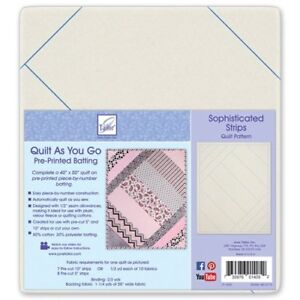 June Tailor Quilt As You Go 80/20 Cotton - Sophiscated Strips