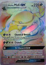 Pokemon Burning Shadows Alolan Muk GX 157/147 Secret Rare Card