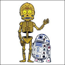 Droids - R2-D2 and C-3PO - Weather Proof Die Cut Vinyl Day of the Dead Sticker