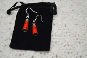 Red Lighthouse Shape Earrings, Great gifts nautical coast fashion