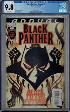 CGC 9.8 BLACK PANTHER ANNUAL #1 1ST SHURI AS PANTHER APPEARANCE IN FLASH FORWARD