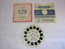 The Three Little Pigs View Master Reel Ft.7 Sawyer's Inc. Vtg. w/ Booklet   T*