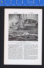 A Trireme War Ship of Old Rome -1937 Page of History