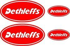Dethleffs Caravane 4 Pièce Grand Kit Stickers Autocollant Choix de Couleurs #008